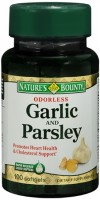 Nature's Bounty Garlic and Parsley Softgels Odorless 100 Soft Gels [074312028502]