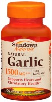 Sundown Garlic 1500 Softgels Natural 100 Soft Gels [030768007515]