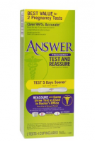 Answer Test & Reassure Pregnancy Test, 2 ea [022600998631]