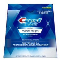 Crest 3D No Slip Whitestrips Professional Effects Teeth Whitening Kit 20 ea [889714000038]