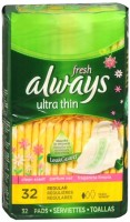 Always Fresh Ultra Thin Regular Pads With Flexi-Wings 32 Each [037000029243]