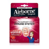 Airborne Very Berry Effervescent Tablets,1000mg of Vitamin C - Immune Support Supplement 20 ct [647865963417]