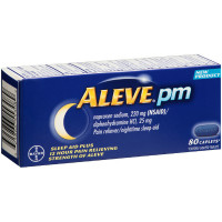 Aleve PM Pain Reliever/Nighttime Sleep-Aid Caplets, 80 ea [325866553089]