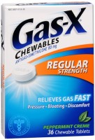 Gas-X Chewables Regular Strength Peppermint Creme 36 Tablets [300430013367]