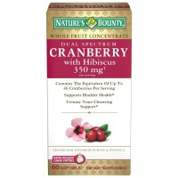 Nature's Bounty Dual Spectrum Cranberry with Hibiscus Softgels 350 mg 60 ea [074312515477]