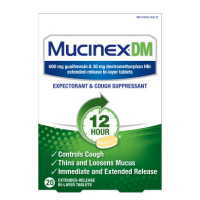 Mucinex DM 12-Hour Expectorant and Cough Suppressant Tablets, 20 ct [363824056203]