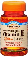 Sundown Vitamin E 200 IU Softgels D-Alpha 150 Soft Gels [030768017590]