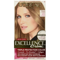 L'Oreal Paris Excellence Creme Haircolor, Dark Beige Blonde [7BB] (Cooler) 1 ea [071249210659]