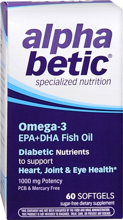 alpha betic Omega-3 Softgels 60 Soft Gels [020065600229]