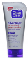 CLEAN & CLEAR Advantage Oil-Absorbing Cream Cleanser 5 oz [381371024087]
