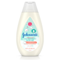 JOHNSON'S Cotton Touch Newborn Baby Face and Body Lotion, Made with Real Cotton 6.8 oz [381371177035]