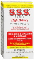 S.S.S. Tablets 20 Tablets [012258112206]