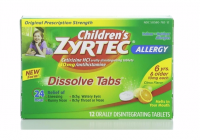 Zyrtec 24 Hour Allergy Dissolve Tablets, Citrus 12 ea [300450242136]