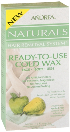 Andrea Naturals Hair Removal System Ready-To-Use Cold Wax 1 Each [078462641307]