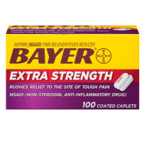 Bayer Extra Strength Aspirin 500 mg, Coated Caplets, 100 ea [312843555075]