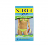 SURGI-WAX Honey Wax Strips Bikini, Body & Legs 14 ea [074764825186]