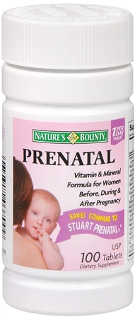 Nature's Bounty Prenatal Tablets 100 Tablets [074312037009]