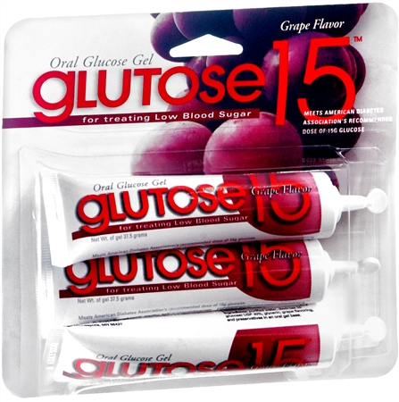 Glutose15 Oral Glucose Gel Grape Flavor 45 g [305740070307]