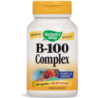 Nature's Way Vitamin B-100 Complex Capsules 100 ea [033674405215]