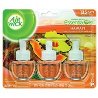Air Wick Scented Oil Air Freshener, Hawaii Scent, Triple Refills, 0.67 oz [062338880907]