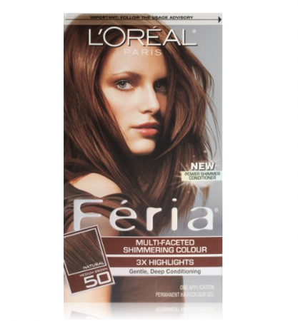 L'Oreal Paris Feria Multi-Faceted Shimmering Colour, Medium Brown [50] [071249039625]