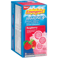 Emergen-C Immune + System Support with Vitamin D Fizzy Drink Mix, Raspberry 30 ea [885898000321]