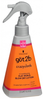 got2b CrazySleek Hot Smooth Flat Iron & Blow Dry Lotion 8.5 oz [052336337183]