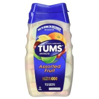 TUMS Ultra Strength Antacid/Calcium Chewable Tablets, Assorted Fruit 72 ea [307660745655]