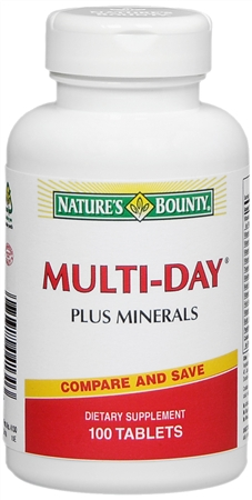 Nature's Bounty Multi-Day Plus Minerals Tablets 100 Tablets [074312041303]