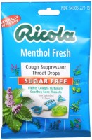 Ricola Sugar Free Throat Drops Menthol 19 Each [036602072213]