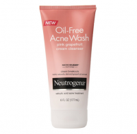 Neutrogena Oil-Free Acne Wash Cream Cleanser, Pink Grapefruit 6 oz [070501053744]