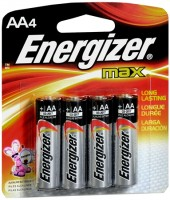 Energizer Alkaline Batteries AA 4 Each [039800011329]