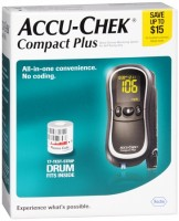 ACCU-CHEK Compact Plus Diabetes Monitoring Kit 1 Each [075537490709]