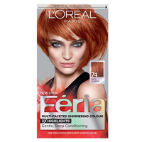 L'Oreal Feria Permanent Haircolor Gel - 74 Copper Shimmer (Deep Copper) 1 Each [071249230152]