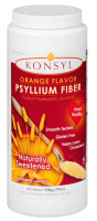 Konsyl Orange Flavor Psyllium Fiber Powder, 538 g [302241852807]