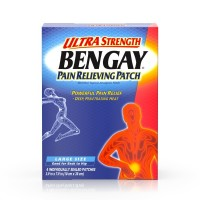 BENGAY Ultra Strength Pain Relieving Patches Large Size 4 Each [074300081496]
