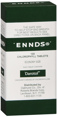 Ennds Chlorophyll Tablets 100 Tablets [011169100777]