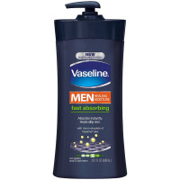 Vaseline Men Body & Face Lotion, Fast Absorbing 20.3 oz [305210416383]