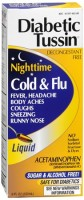 Diabetic Tussin Cold & Flu Liquid 8 oz [760569452084]