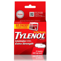 TYLENOL  Pain Reliever Fever Reducer Caplets Extra Strength, 500 mg 6 Caplets [300450444066]