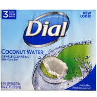 Dial Glycerin Soap Bars Coconut Water & Bamboo Leaf Extract, 4 oz bars, 3 ea [017000093062]