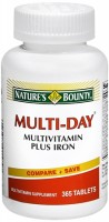 Nature's Bounty Multi-Day Multivitamin Plus Iron Tablets 365 Tablets [074312015847]