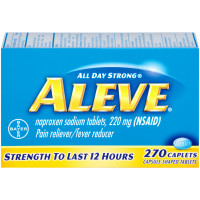 Aleve Pain Reliever/Fever Reducer, 270 Caplets [325866551115]