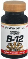 Windmill Vitamin B-12 250 mcg Tablets 100 Tablets [035046001285]