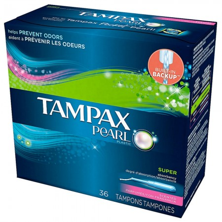 Tampax Pearl Plastic Super Absorbency Tampons, Fresh Scent 36 ea [073010365193]