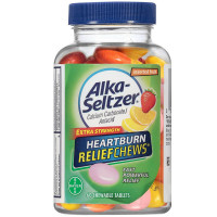Alka-Seltzer Fruit Chews Calcium Carbonate/Antacid Chewable Tablets 60 ea [016500554592]