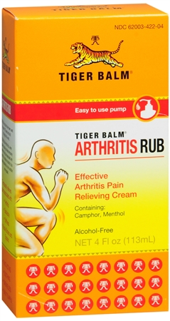 Tiger Balm Arthritis Rub 4 oz [039278422047]