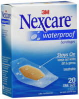 Nexcare Waterproof Clear Bandages One Size 20 Each [051131995253]