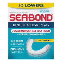SEA-BOND Denture Adhesive Seals Lowers Original, 30 Each [011509002068]