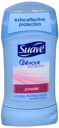Suave 24 Hour Protection Anti-Perspirant Deodorant Invisible Solid Powder 1.40 oz [079400404114]
